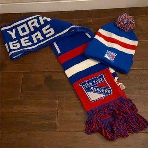 New York Rangers scarf & hat bundle